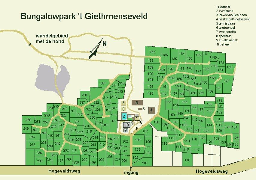 Plattegrond van Bungalowpark 't Giethmenseveld